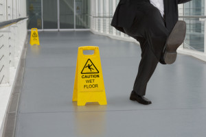 Slip and Fall on wet floor