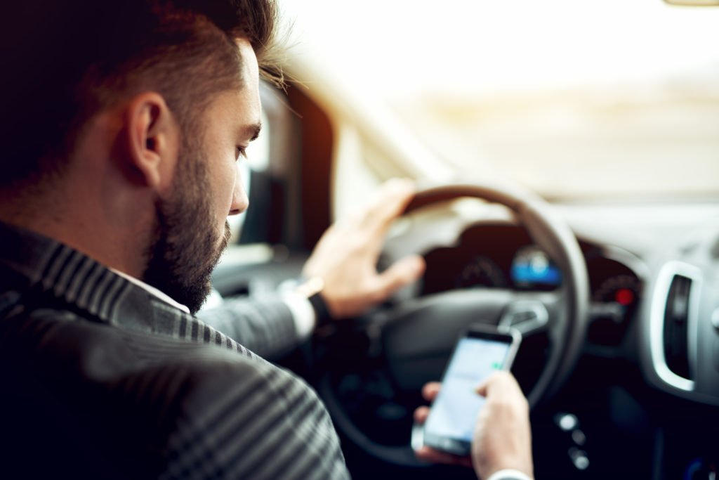 car accidents caused by distracted driving