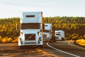self driving trucks on the road